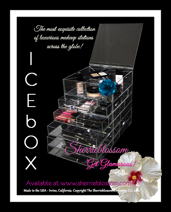 makeup organizer; ICEbOX Makeup Organizer; acrylic make up organizer drawers; makeup storage