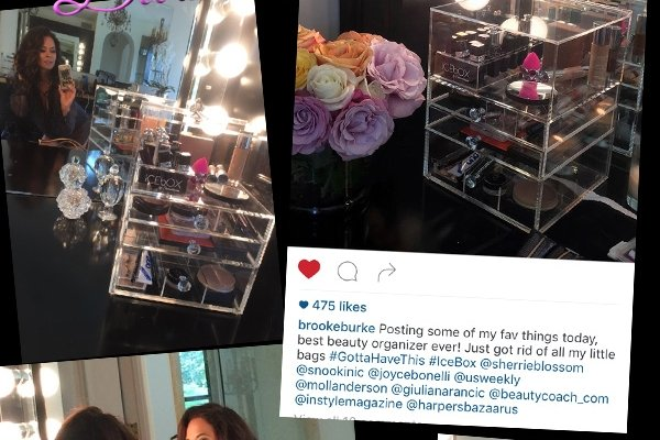 Makeup Organizer, ICEbOX, Sherrieblossom Brooke Burke